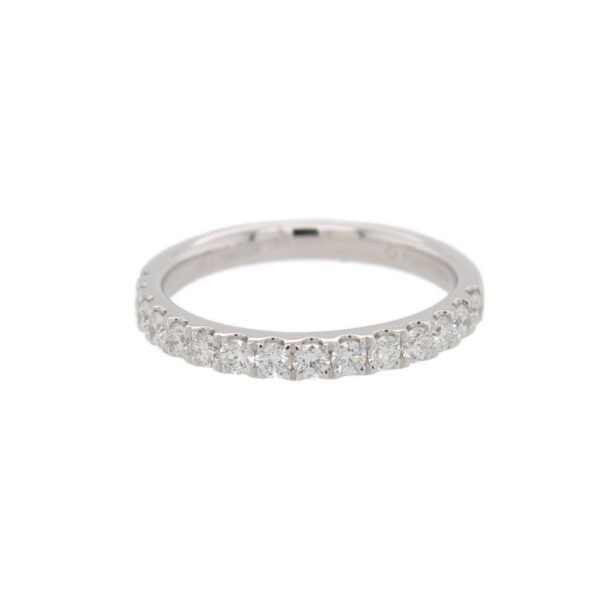 This 15 stone diamond ring from The Forevermark Tribute™ Collection is crafted from 18k white gold and features 0.50 total carats of diamonds.