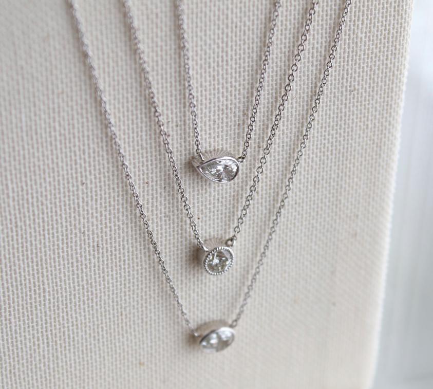 Delicate Diamond Pendants