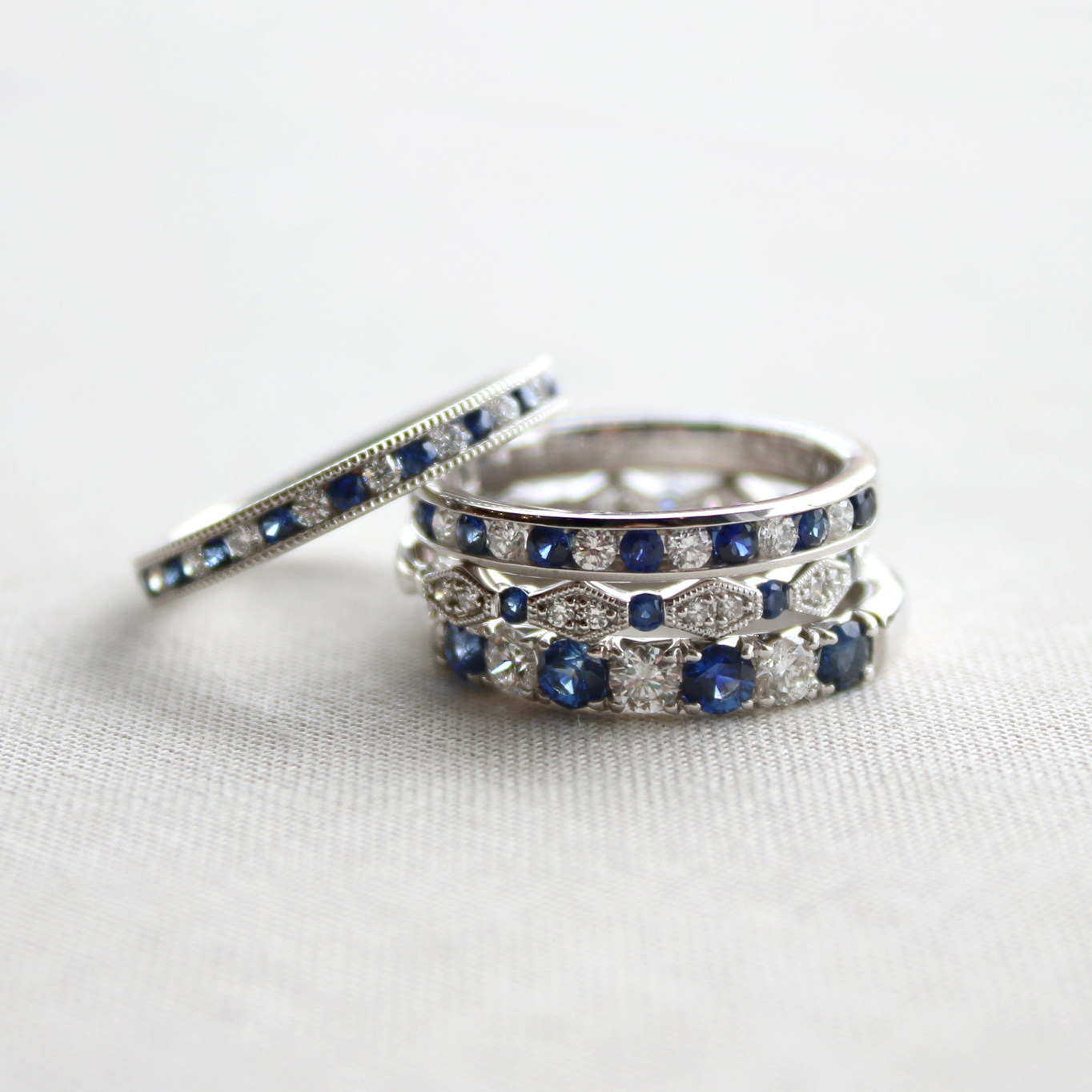 Sapphire and Diamond Bands IMG_4052 copy