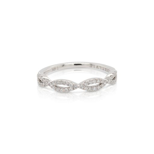 This diamond ring by Sylvie is crafted from 14k white gold and features 0.27 total carats of diamonds.