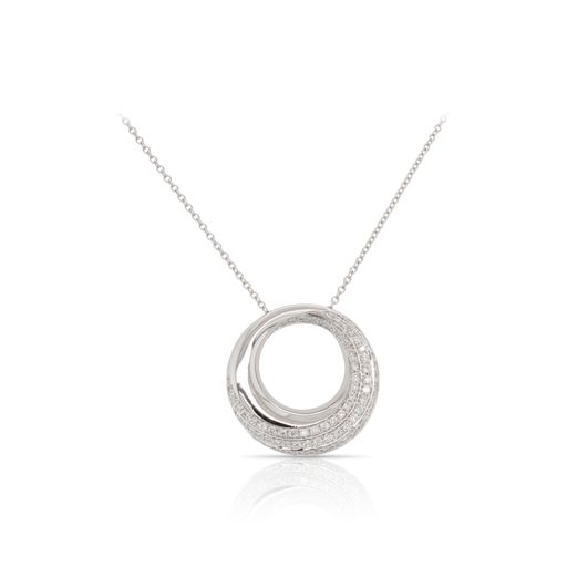 This diamond necklace by Rafael is crafted from 14k white gold and features 0.46 total carats of diamonds.