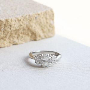 1.50ct Oval Diamond Three Stone Ring