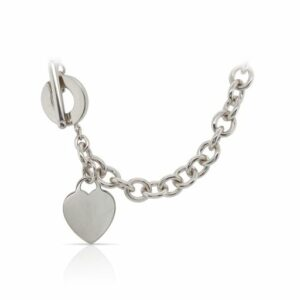 This necklace by Tiffany & Co is crafted from sterling silver and features a heart tag.